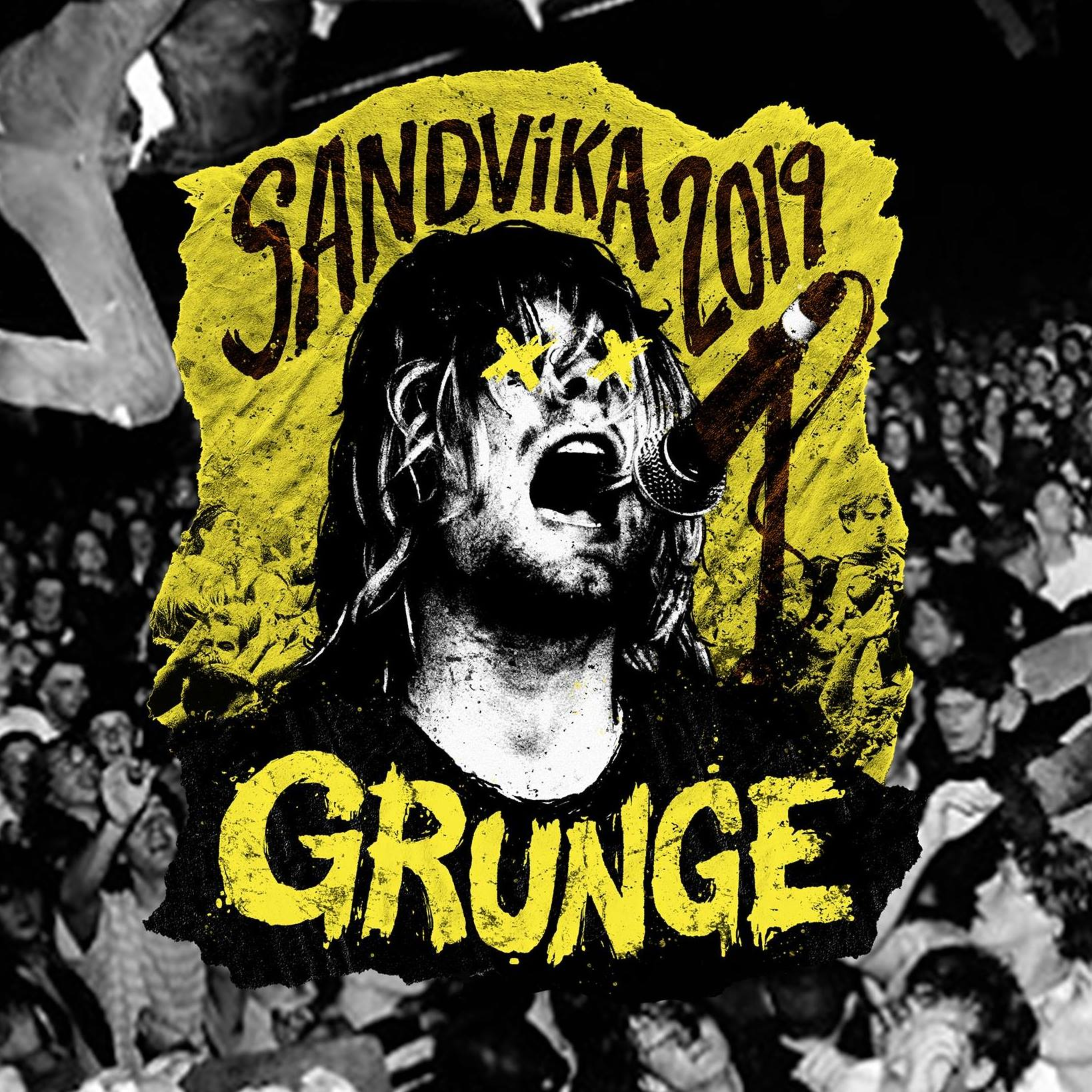 Grunge 2019 Sandvikarussen logo
