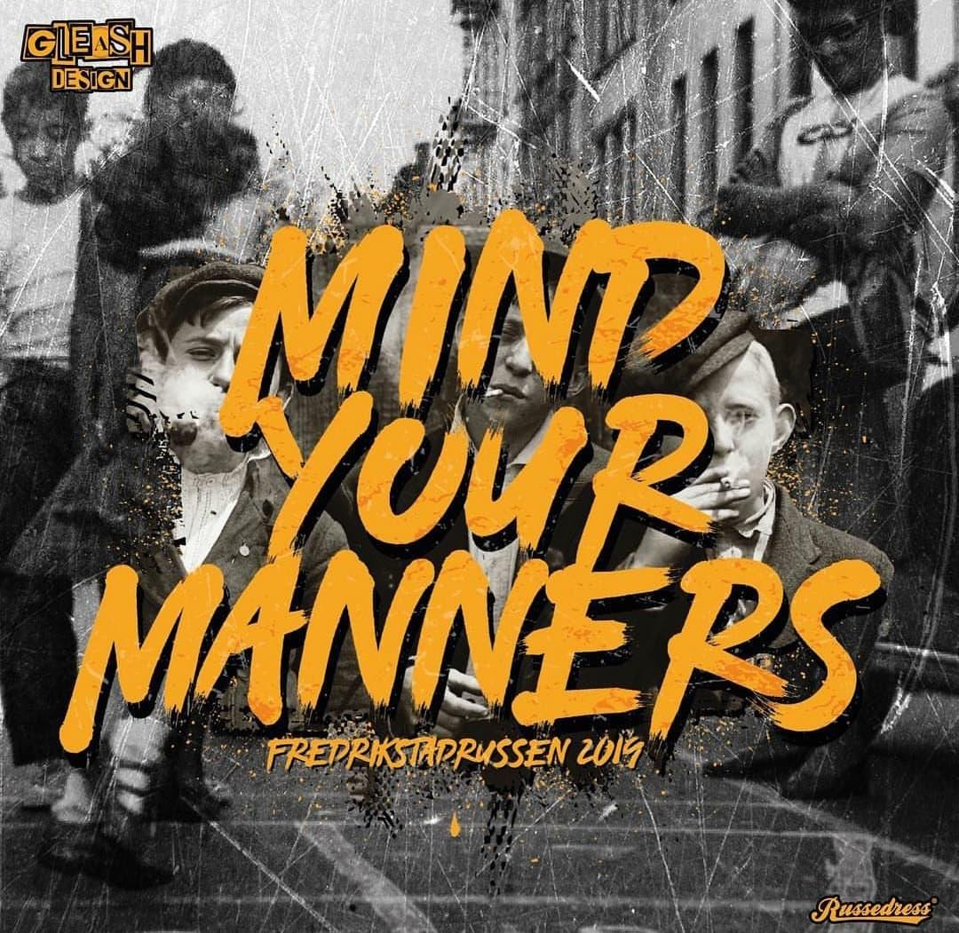 Mind Your Manners 2019 - Fredrikstadrussen logo