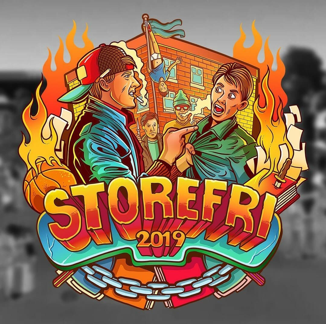 Storefri 2019 - Hønefossrussen logo